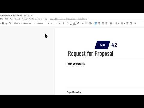 How to: Add a Table of Contents in Google Docs