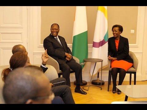 Le Président OUATTARA a eu un entretien avec Louise Mushikiwabo, SG de la Francophonie