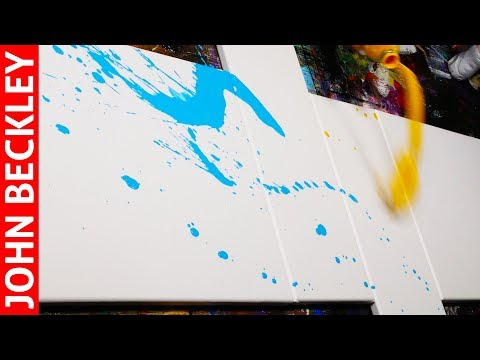 Making of Acrylic Abstract Painting on Canvas | Dogma