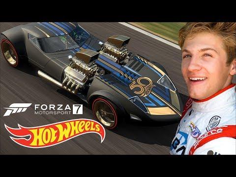 Can You Beat a Race Car Driver at Forza 7? | Gaming Garage | Hot Wheels