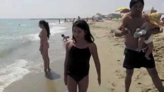 Disfrutando la playa en Francia