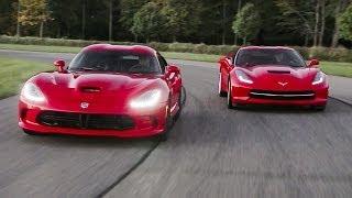 2014 SRT Viper GTS and 2014 Chevrolet Corvette Stingray   AROUND THE BLOCK