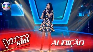 Júlia Tavares canta 'Stone Cold' na Audição –  The Voice Kids Brasil   2ª Temporada