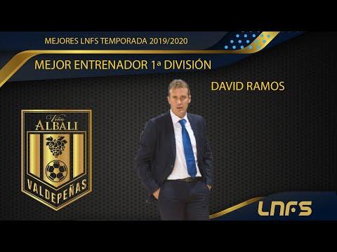 David Ramos, Trofeo al 'Mejor Entrenador' en Primera División de la LNFS en la Temporada 2019/20