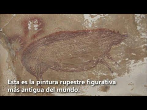 Esta es la pintura rupestre figurativa más antigua del mundo