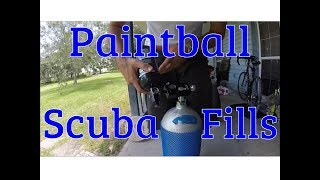 How to fill your compressed air HPA paintball tanks from a SCUBA.
