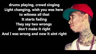 Far Away - Tyga Feat. Chris Richardson // Lyrics On Screen [HD]