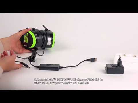 Charging And Replacing The Batteries   3M™ PELTOR™ WS™ ALERT™ XPI User Instructions