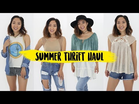 Summer Thrifted Clothing Haul + Try On | Coolirpa