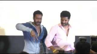 "Ajay Devgn & Prabhu Deva launch the theme song of  "" Action Jackson """