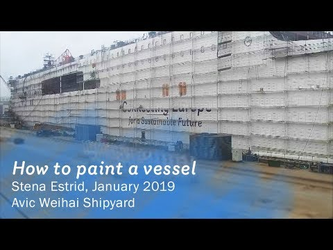 How to paint a vessel - Stena Estrid