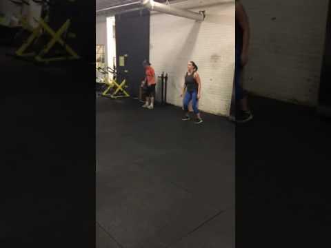 Broad jump back hops