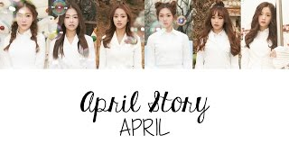 APRIL (에이프릴) - 봄의 나라 이야기 April Story (Colour Coded Lyrics) [Han/Rom/Eng]