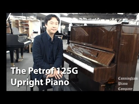 The Petrof 125G Upright Piano