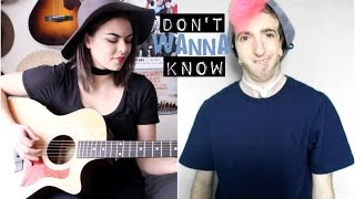 Don't Wanna Know - Maroon 5 ft. Kendrick Lamar acoustic/ASL cover (Mackenzie Johnson & Andy Signs)