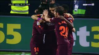 Ray Hudson's call of Philippe Coutinho's goal vs Málaga 2018.03.10
