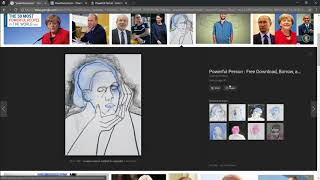"Search Engine Art, screen recording showing live search engine manipulation of ""powerful person"""