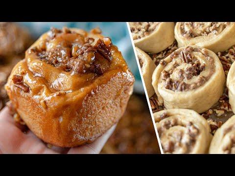 НЕЖНЕЙШИЕ БУЛОЧКИ с карамелью и орехами вкуснее чем Синнабон | простой рецепт Sticky Rolls