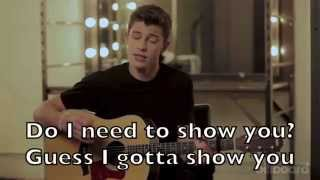 Shawn Mendes - Show You Karaoke Cover Backing Track + Lyrics Acoustic Instrumental
