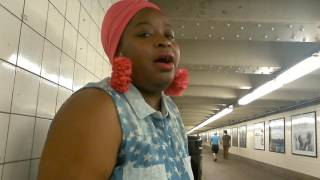 INSANE!! CARELESS WHISPER NYC SUBWAY LIVE COVER BY VIRAL STAR SILVIA JHONY