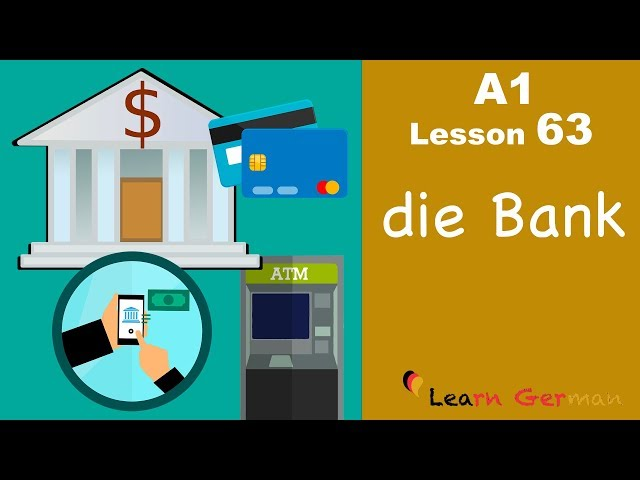 Learn German | A1 - Lesson 63 | die Bank | the Bank