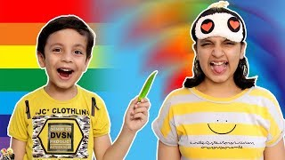COLOUR CHALLENGE #Funny Blindfold Eating #Challenge | Aayu and Pihu Show