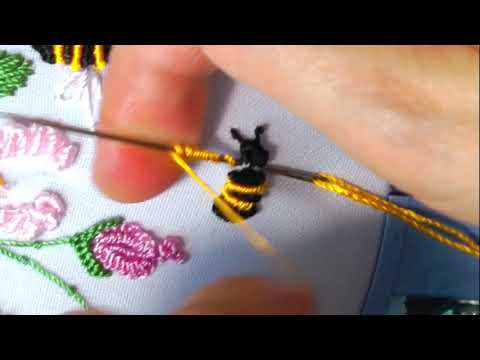 Hand Embroidery Mini Bee & a Ladybug | Dimensional Embroidery