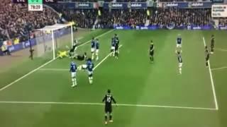 Everton vs Chelsea 0-2 Goal Cahill