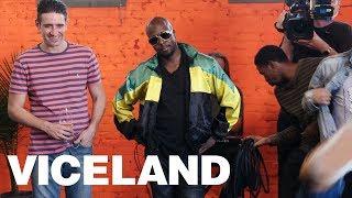 Wyclef Jean Breakdance Battle on the Action Bronson Set