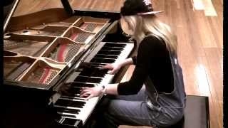 Lara plays 'Across the Universe' on piano by The Beatles
