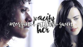 morgana & arthur & gwen; pacify her (modern au)