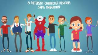 Rigmo - Rigged Character Animation Mockup | After Effects template