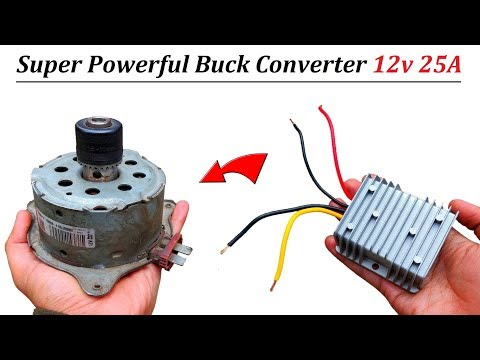 How to Run 12v 25 Amps DC Motor at 48v DC using Buck Converter - REVIEW