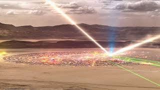Burning Man 2014 Time-Lapse Seen From Mountain Top: Galaxy in the Dust by Jason Phipps
