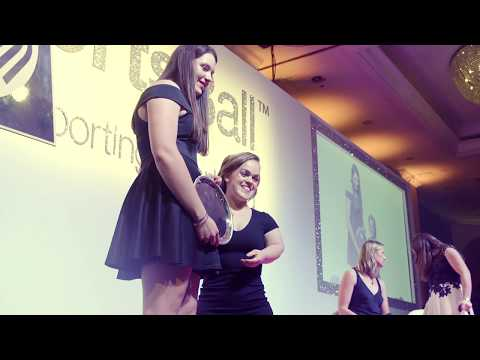 Holly Dunford presented with SportsAid's One-to-Watch Award 2017 by Ellie Simmonds OBE
