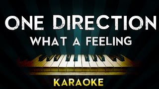 One Direction - What a feeling | Piano Karaoke Instrumental Lyrics Cover Sing Along
