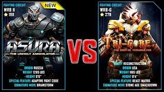 REAL STEEL WRB FINAL ASURA VS TRI GORE (279) New Robots GOLD UPDATE (Живая сталь)
