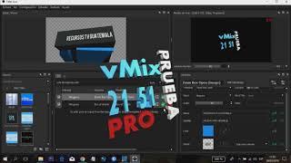 Titler Live Broadcast Via NDI vMix 21 Pro