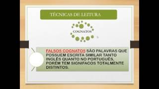 INGLÊS INSTRUMENTAL - TÉCNICAS DE LEITURA
