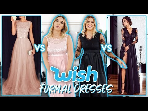 Trying On Wish Formal Dresses | FALSE ADVERTISING""""