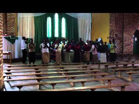 Choir practice at Kigeme Cathedral in Rwanda