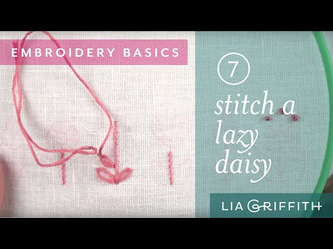 How To Sew a Lazy Daisy Stitch