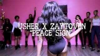 "USHER X ZAYTOVEN - ""PEACE SIGN"" - Choreography by Jay Marié | MY VERY FIRST HEEL CLASS"