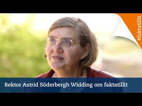 Rektor Astrid Söderbergh Widding om faktatillit