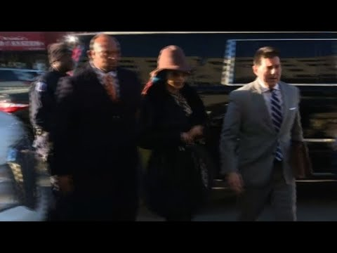 Rapper Cardi B arrives at court to answer assault charge