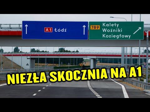 Niezły Roller Coaster na A1 między Pyrzowicami, a Piekarami Śląskimi