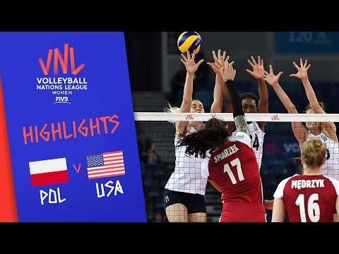 POLAND vs. USA - Highlights Women | Week 4 | Volleyball Nations League 2019