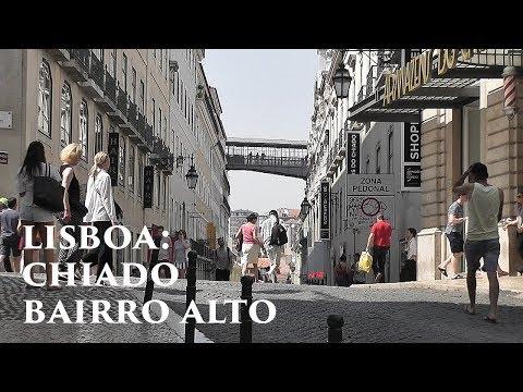 LISBOA: Chiado & Bairro Alto districts (3/5) Portugal HD