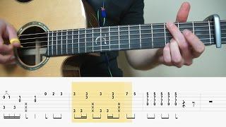 Alan Walker - Alone - Fingerstyle Guitar TABS Tutorial (Lesson)  Mattias Krantz