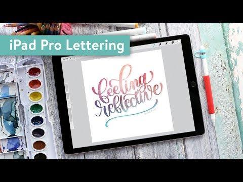 iPad Pro Lettering in Procreate